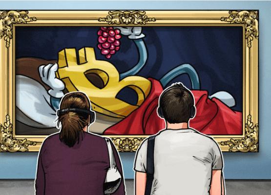 Obra de arte con el símbolo de Bitcoin