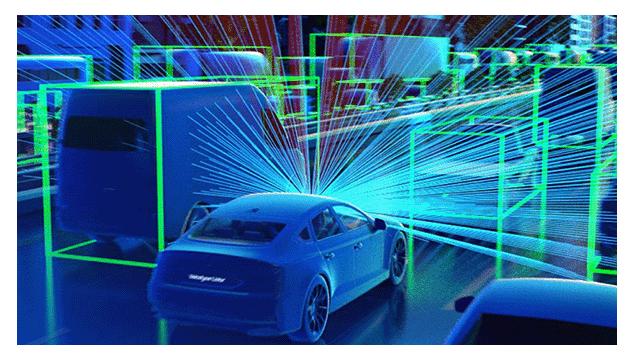 coche autónomo en 3D
