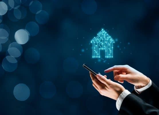 Concepto de aplicación de casa inteligente