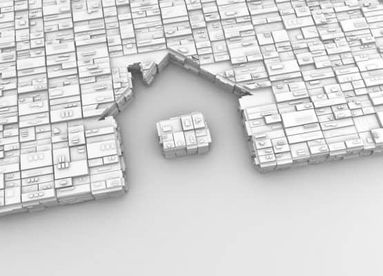 dibujo de una casa en el suelo en 3d